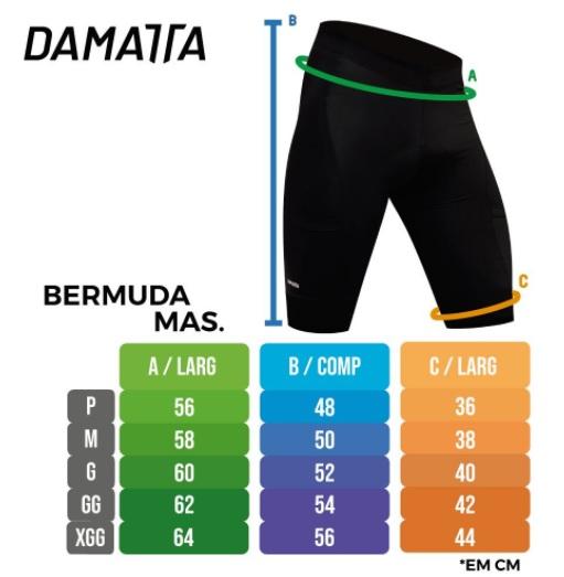 Bermuda Ciclismo Masculina Damatta Fast Uv50 Forro Gel