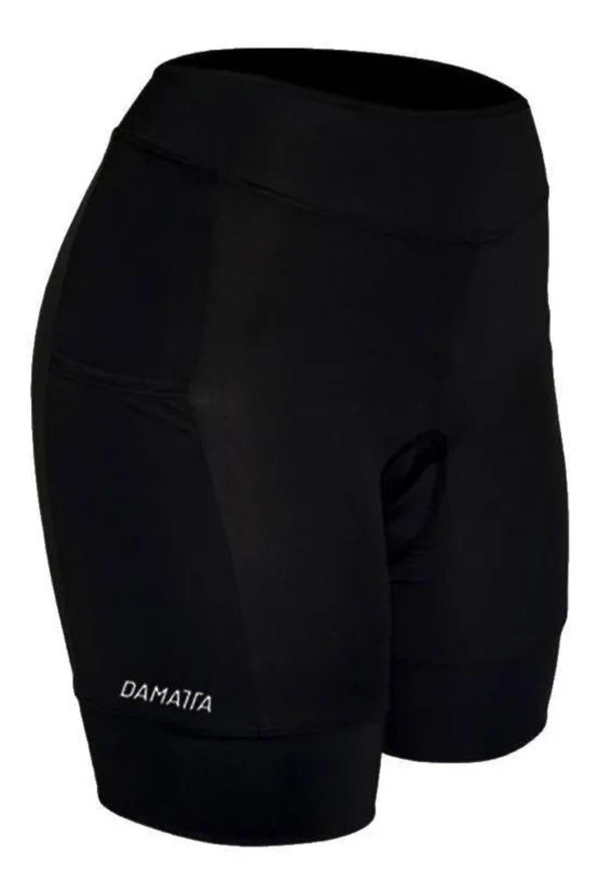Bermuda De Ciclismo Feminino Damatta Flames Gel Uv50+