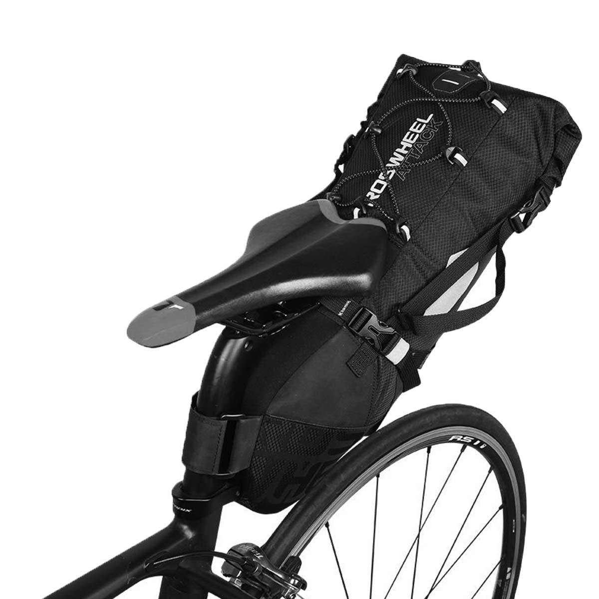 Bolsa Selim À Prova D'água Ciclismo Bicicleta Roswheel Preto