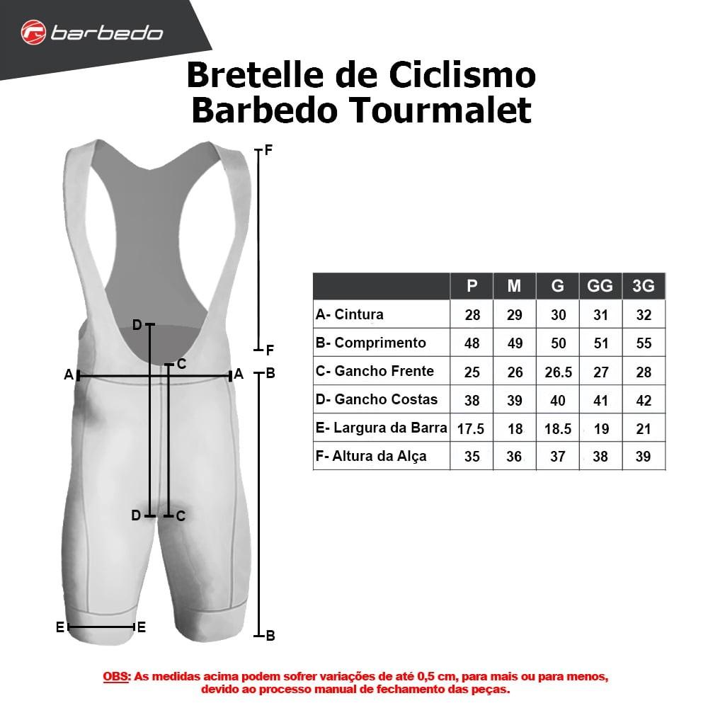 Bretelle de Compressão Barbedo Preto Tourmalet