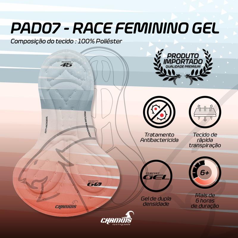 Calça Ciclismo Feminina Damatta Ride Forro Gel