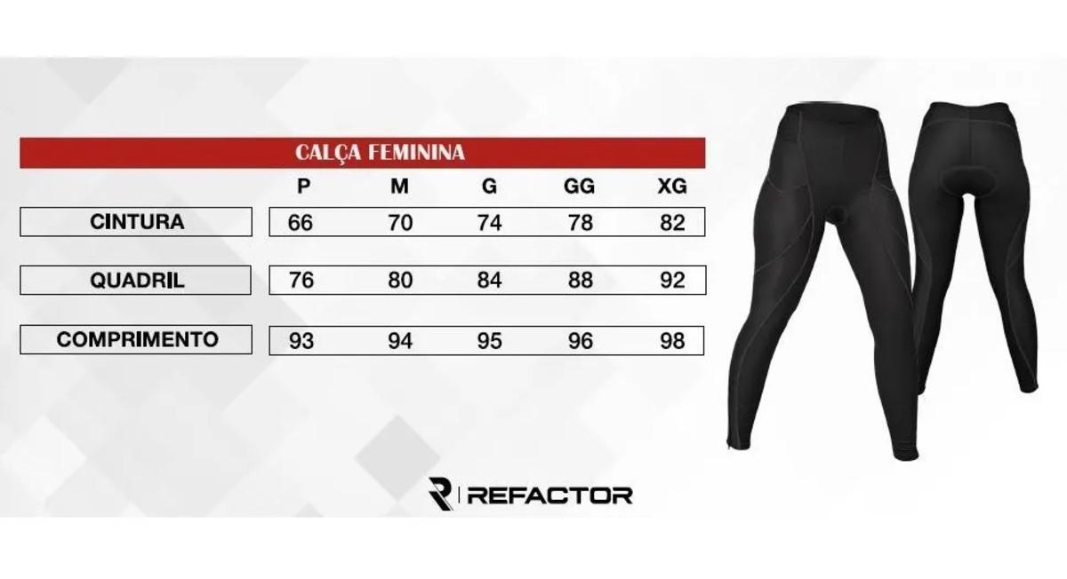 Calça Refactor Flex Ciclista Feminina Com Proteção Uv