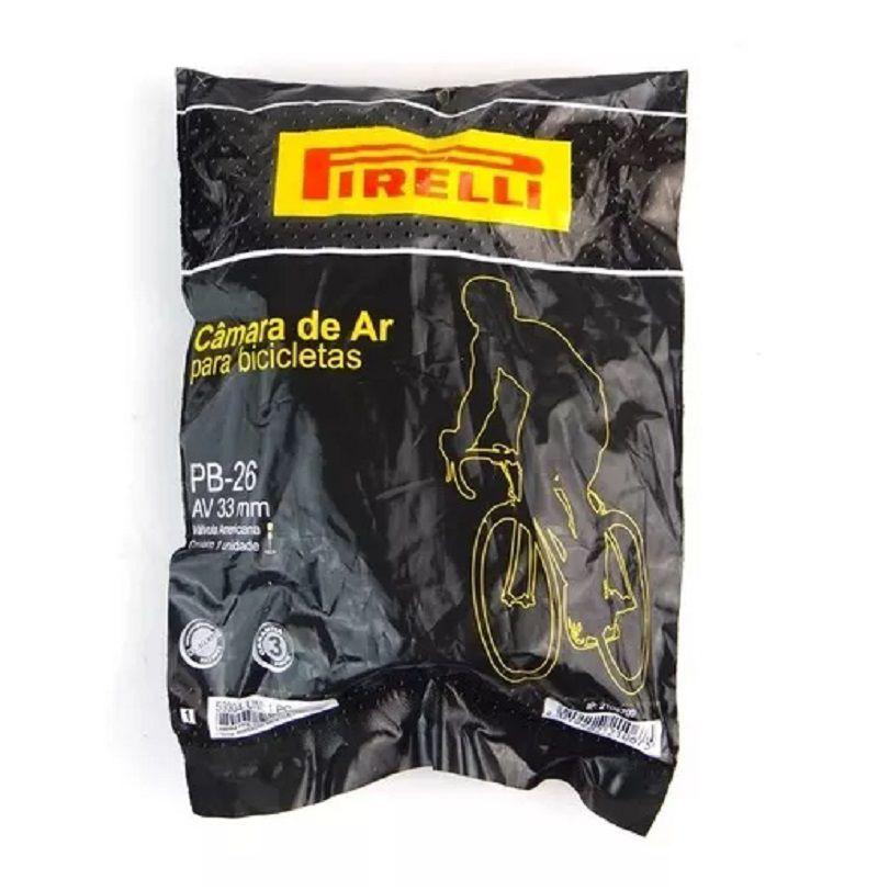 Camara de ar Pirelli Aro 26 Válvula Americana 33mm