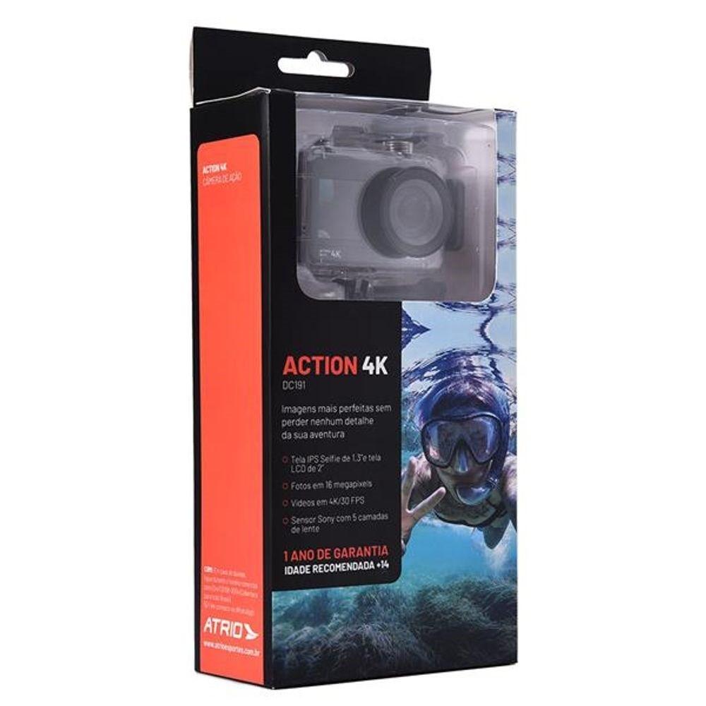 Câmera De Ação Action Atrio Selfie 4k Wifi 16mp