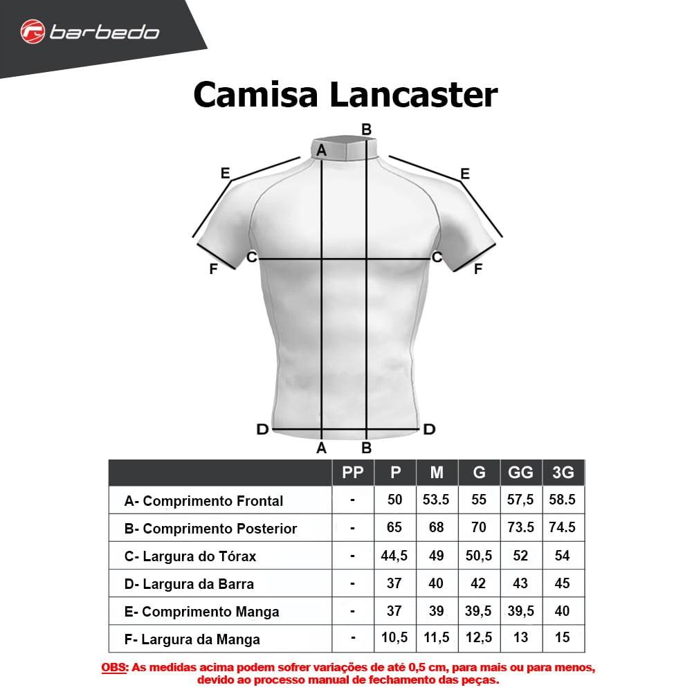 Camisa Ciclismo Masculina Barbedo Lancaster
