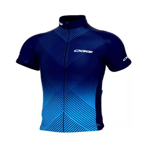 Camisa Ciclismo Masculina Oggi Tour Big Wheel Azul