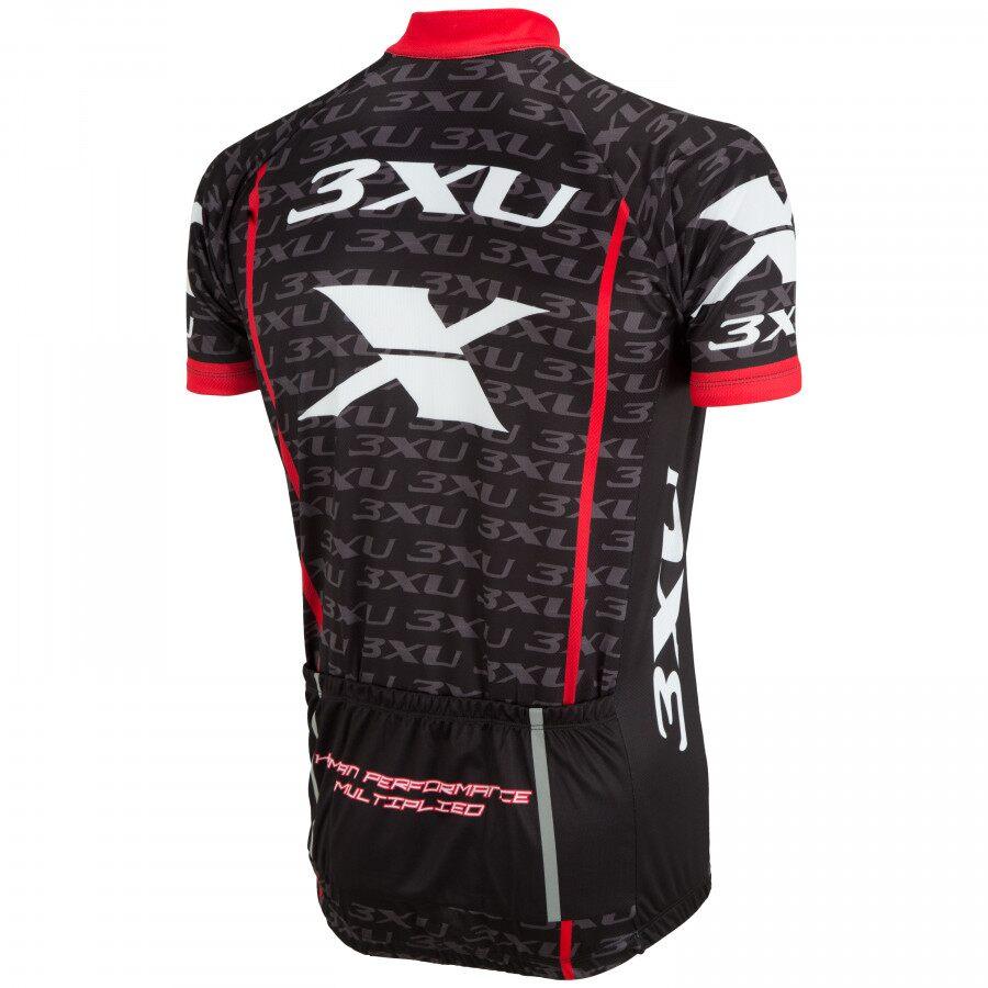 Camisa Ciclismo Refactor 3xu Multiplied Vermelho Bike