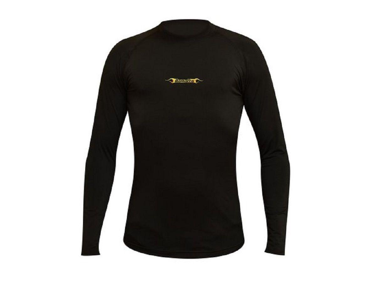 Camisa Ciclismo Segunda Pele Masculina Com Proteção Uv Preto