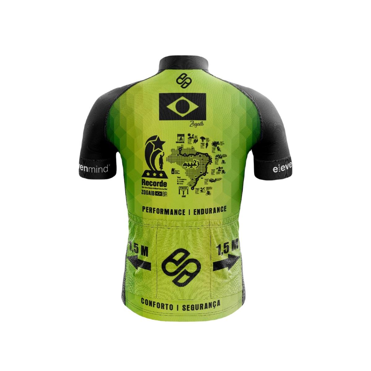 Camisa Ciclismo Solifes Unissex proteção UV Bandeira do Brasil
