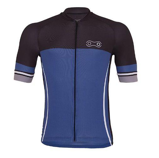 Camisa De Ciclismo Blue Marcio May Masculina