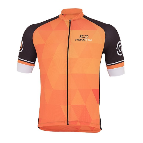 Camisa De Ciclismo Masculina Orange Marcio May Laranja