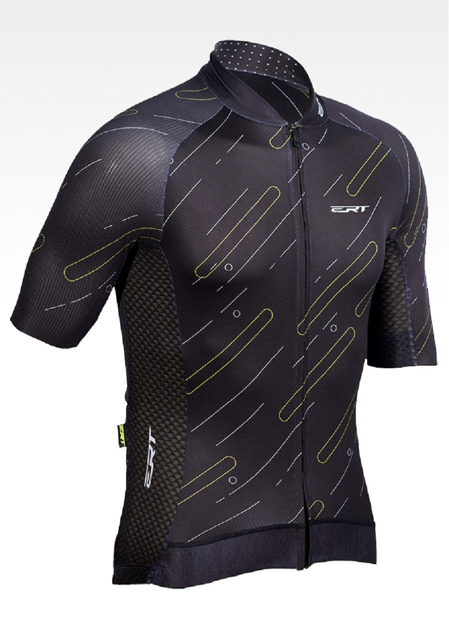 Camisa De Ciclismo Masculina Premium Black Ert