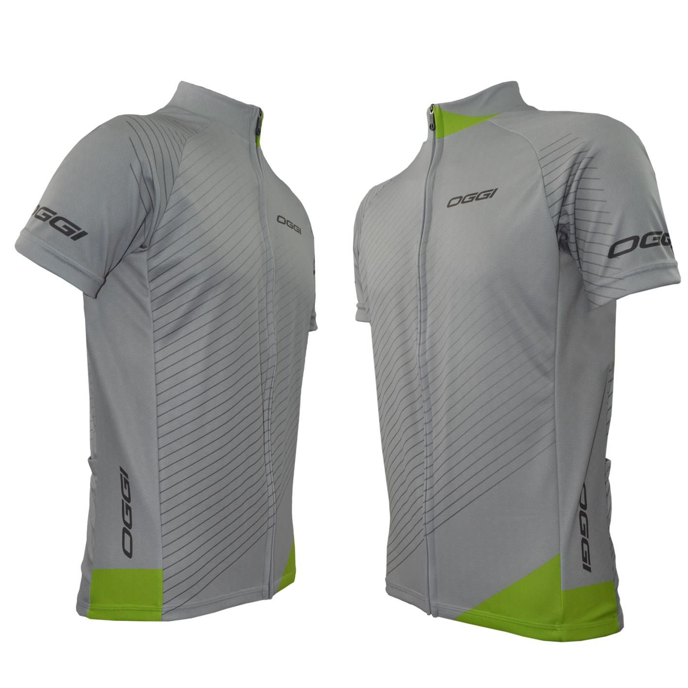 Camisa Masculina Oggi Veloce cinza Verde