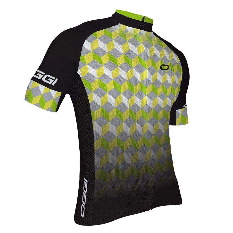 Camisa Para Ciclista Ciclismo Bike Masculina Oggi Agile Preto/cinza/verde P