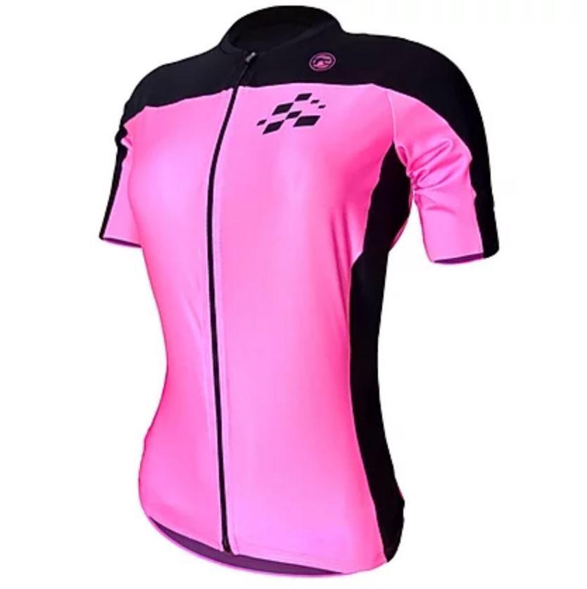 Camisas De Ciclismo Barbedo Feminina Amarelo E Rosa Racing Bike