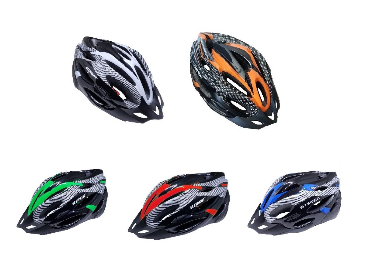 Capacete Ciclismo Bike Element Com sinalizador led