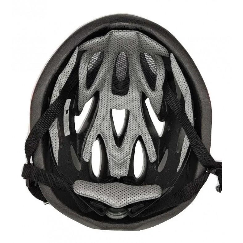 Capacete Ciclismo Bike Tsw Raptor2 Pto/cinza Sinalizador Led