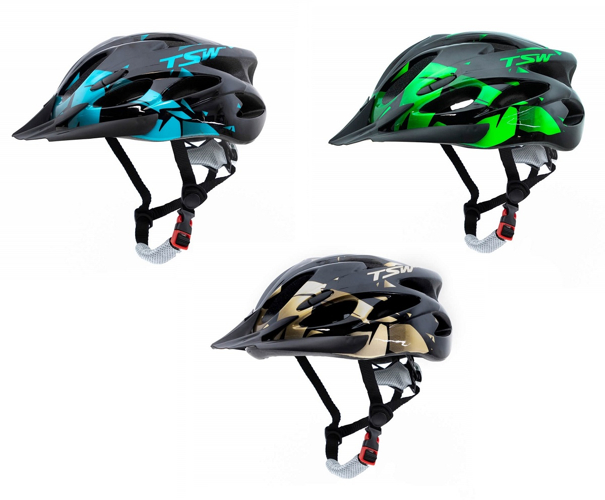 Capacete Ciclismo Tsw Raptor 2 o com sinalizador Led