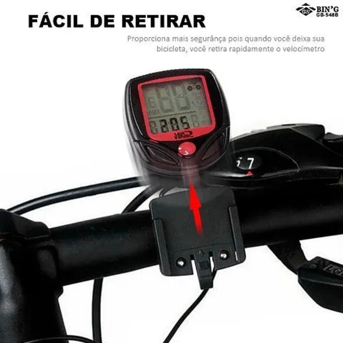 Ciclo Computador Velocímetro Bike Com 14 funções GB548B