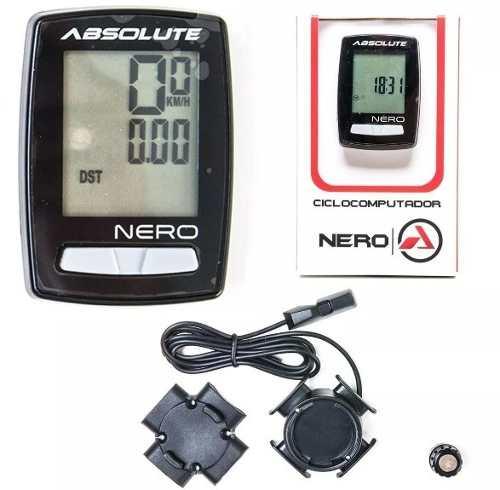 Ciclocomputador Velocímetro Bike 10 Funções Absolute Nero