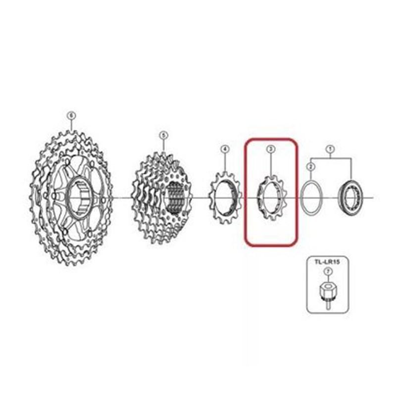 Cog Pinhão Para Cassete Hg81 Shimano 11 Dentes 10v Slx