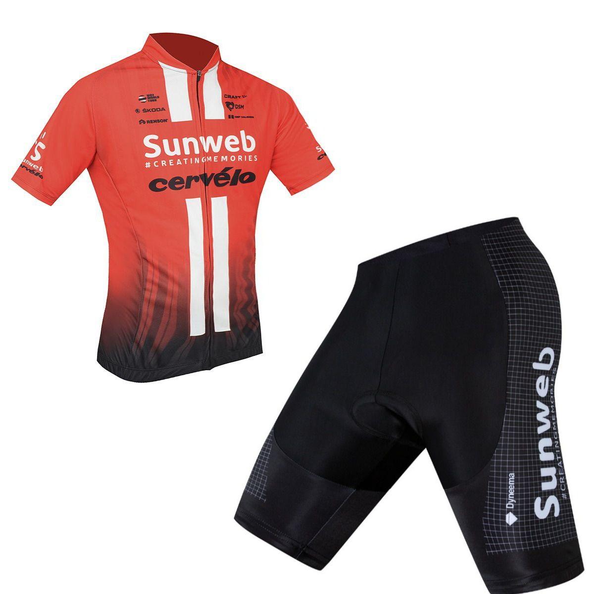Conjunto Ciclismo World Tour Refactor Speed Mtb Sunweb Vermelho/preto