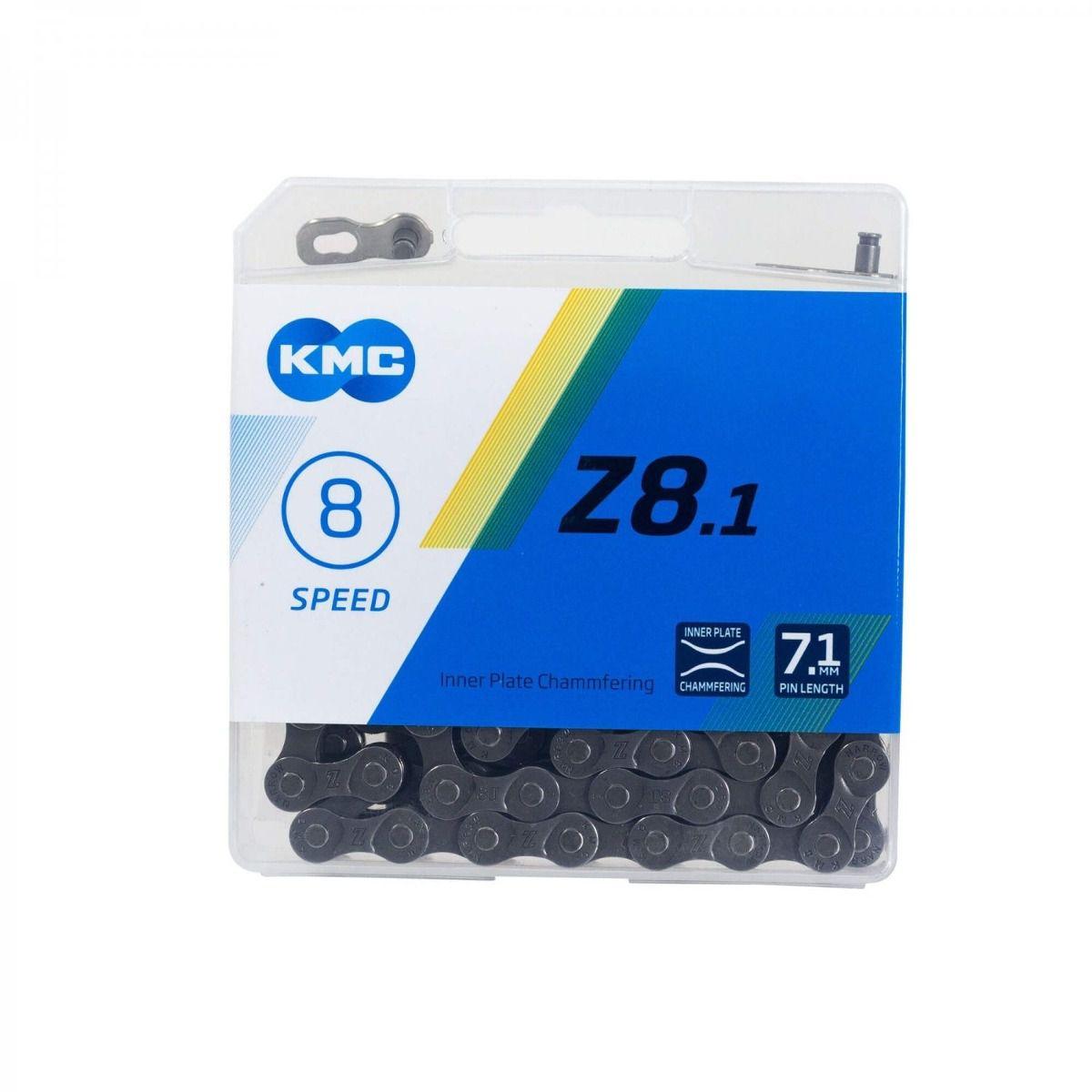 Corrente Kmc 8v 116 Links Index Z8.1 Corrida Bicicleta