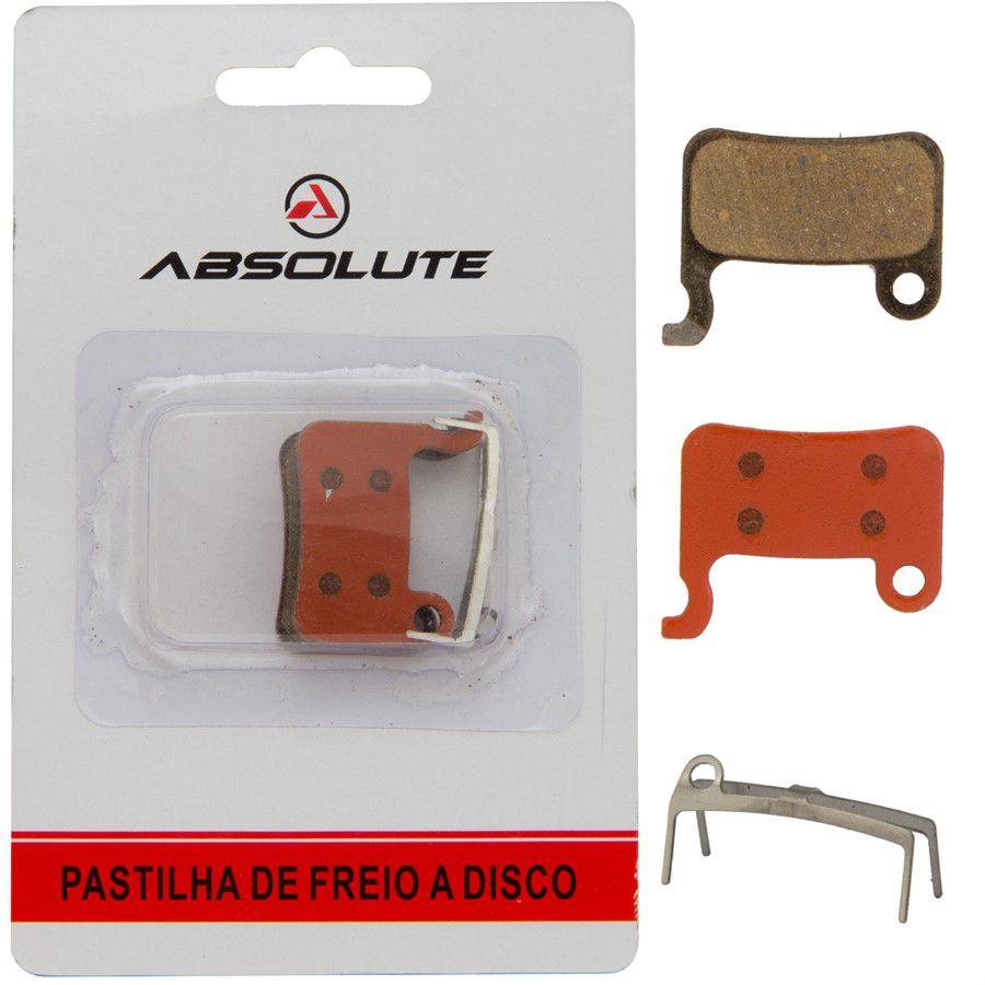 Par de Pastilhas Freio Absolute Abs-04s Shimano p/ Bicicleta