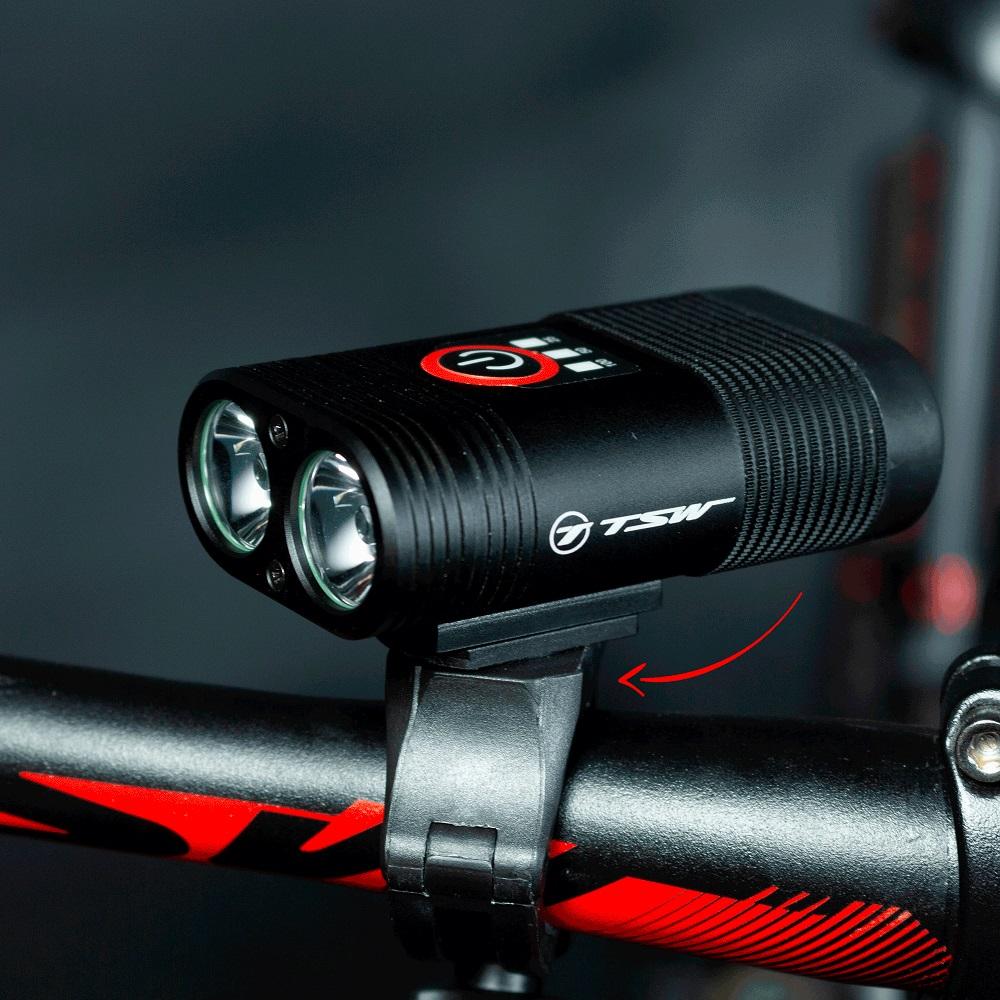 Farol Bike Bicicleta Recarregável Usb 600 Lumens Tsw