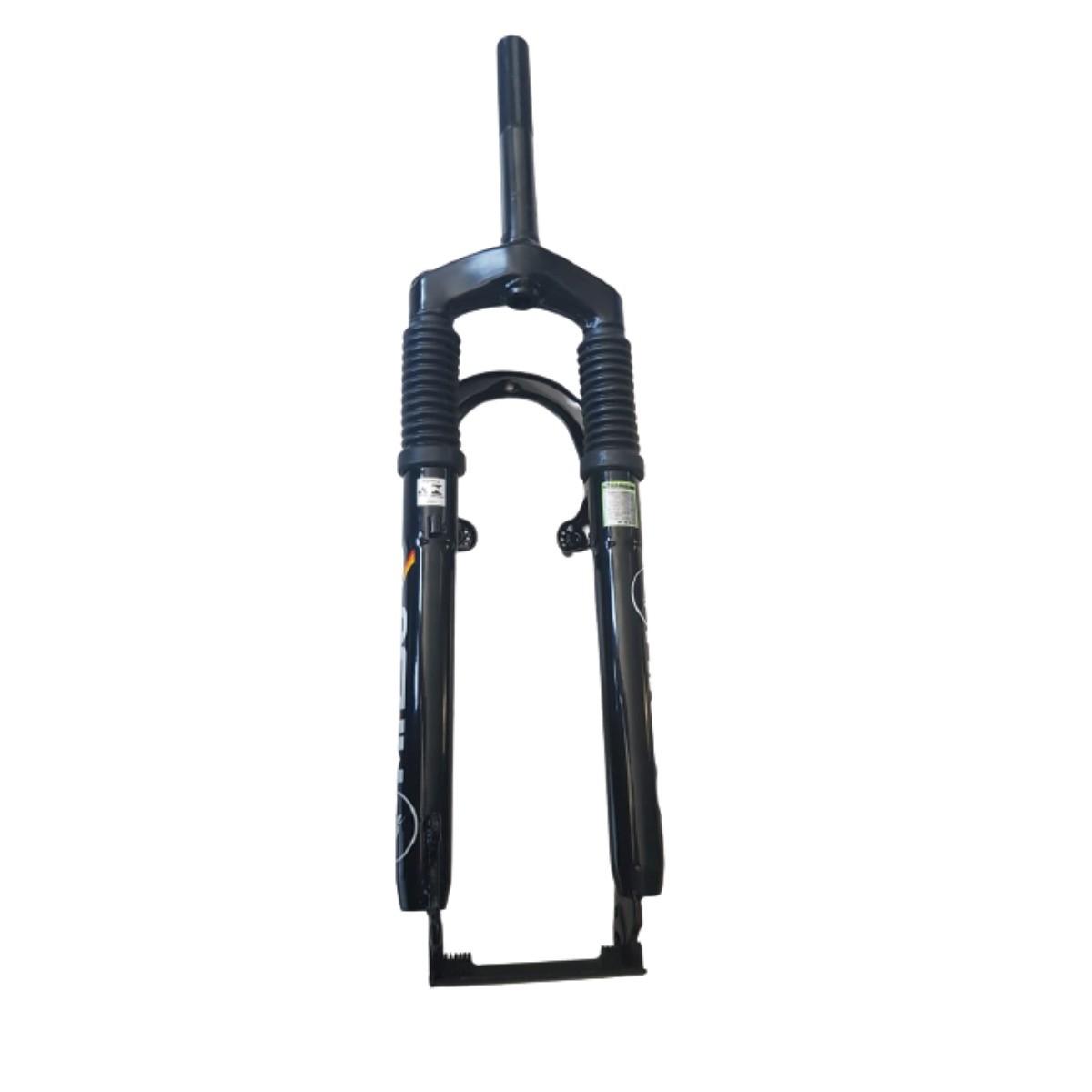 Garfo 26 Mtb Bike Preto Com Suspensão 21.1mm Com Ombro Preto