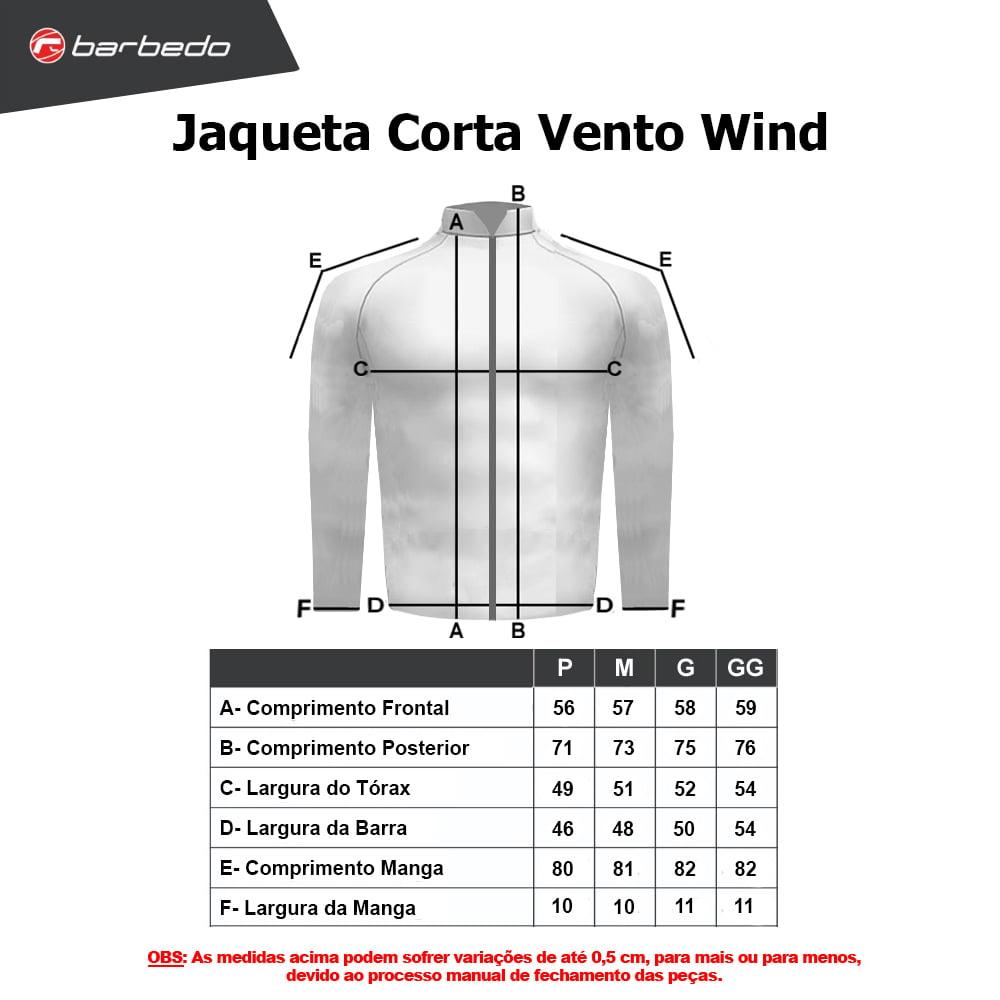 Jaqueta Ciclismo Corta Vento Barbedo Wind Preto