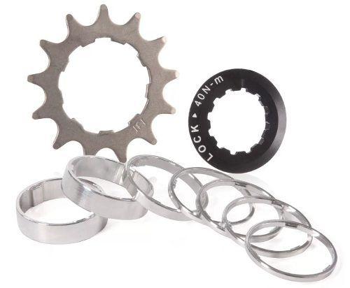 Jogo Kit Coroas Bike Hupi Cog 14d Para Tensionador Ssp