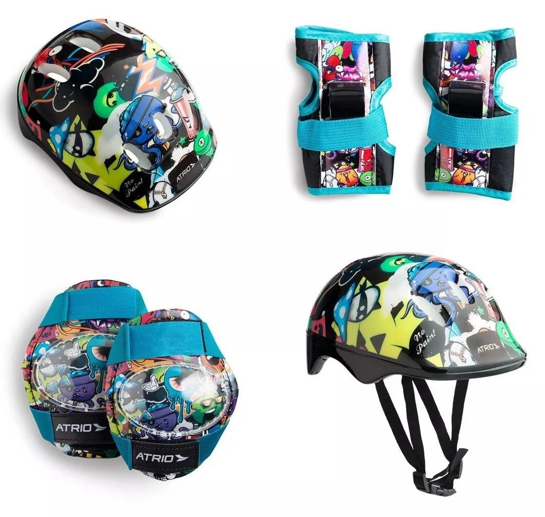 Kit De Proteção Infantil Atrio Sports P Skate Bike Patinete