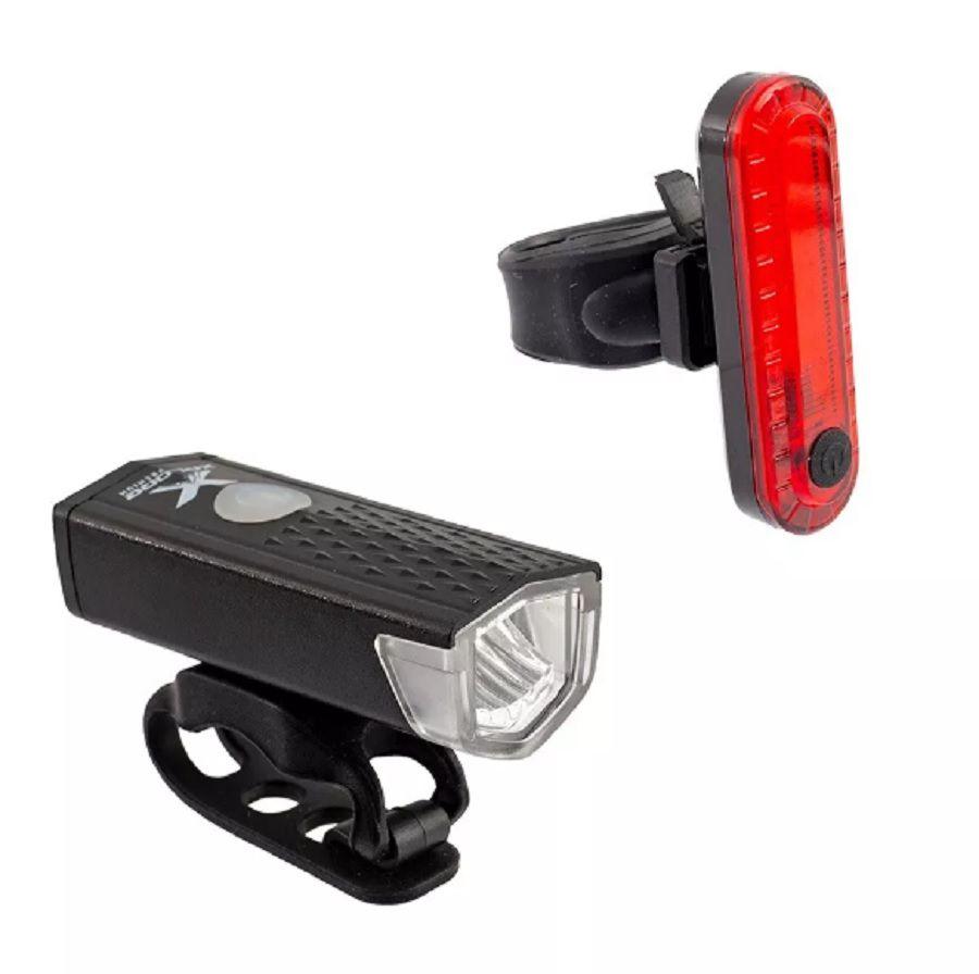 Farol e lanterna Para Bicicleta Usb 120 lumens Pisca
