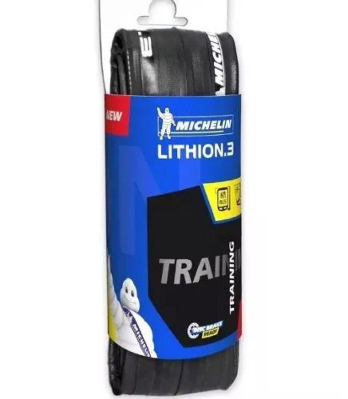 Kit Pneu Michelin Lithion 3 Kevlar 700x23 com Câmara Pirelli 700