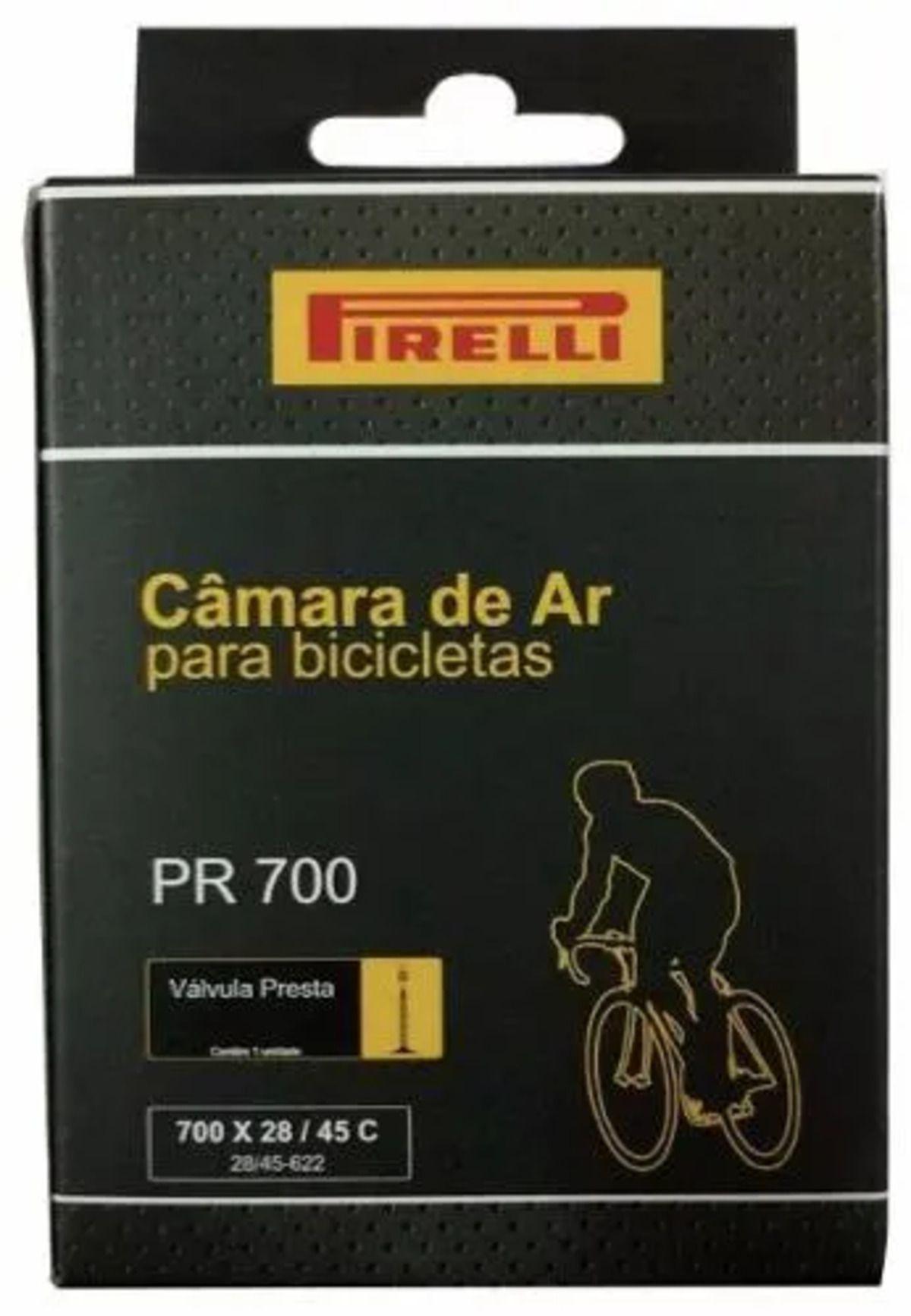 Kit Pneu Pirelli Corsa Aramado 700x23 com Camara Pirelli 700