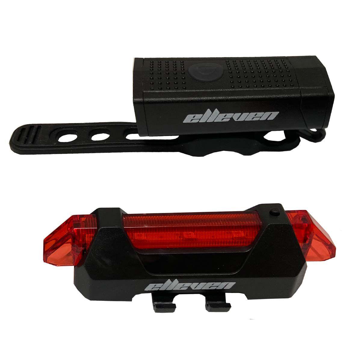 Iluminação Dianteira e Traseira USB Elleven Para Bicicleta