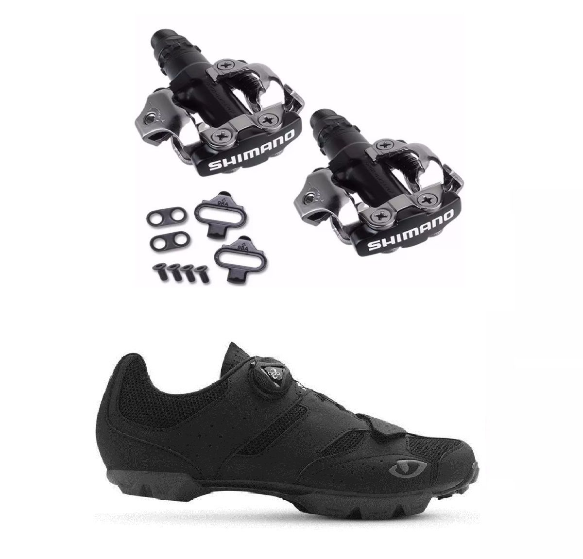 Kit Sapatilha Giro Cylinder + Pedal Clip Shimano PD-M520