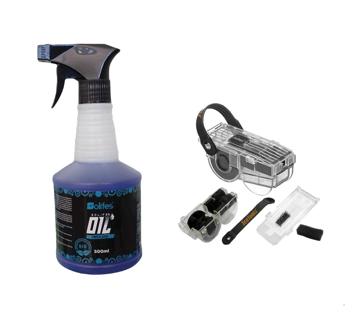 Limpador corrente Ice toolz Bike e Limpeza geral solifes 500ml