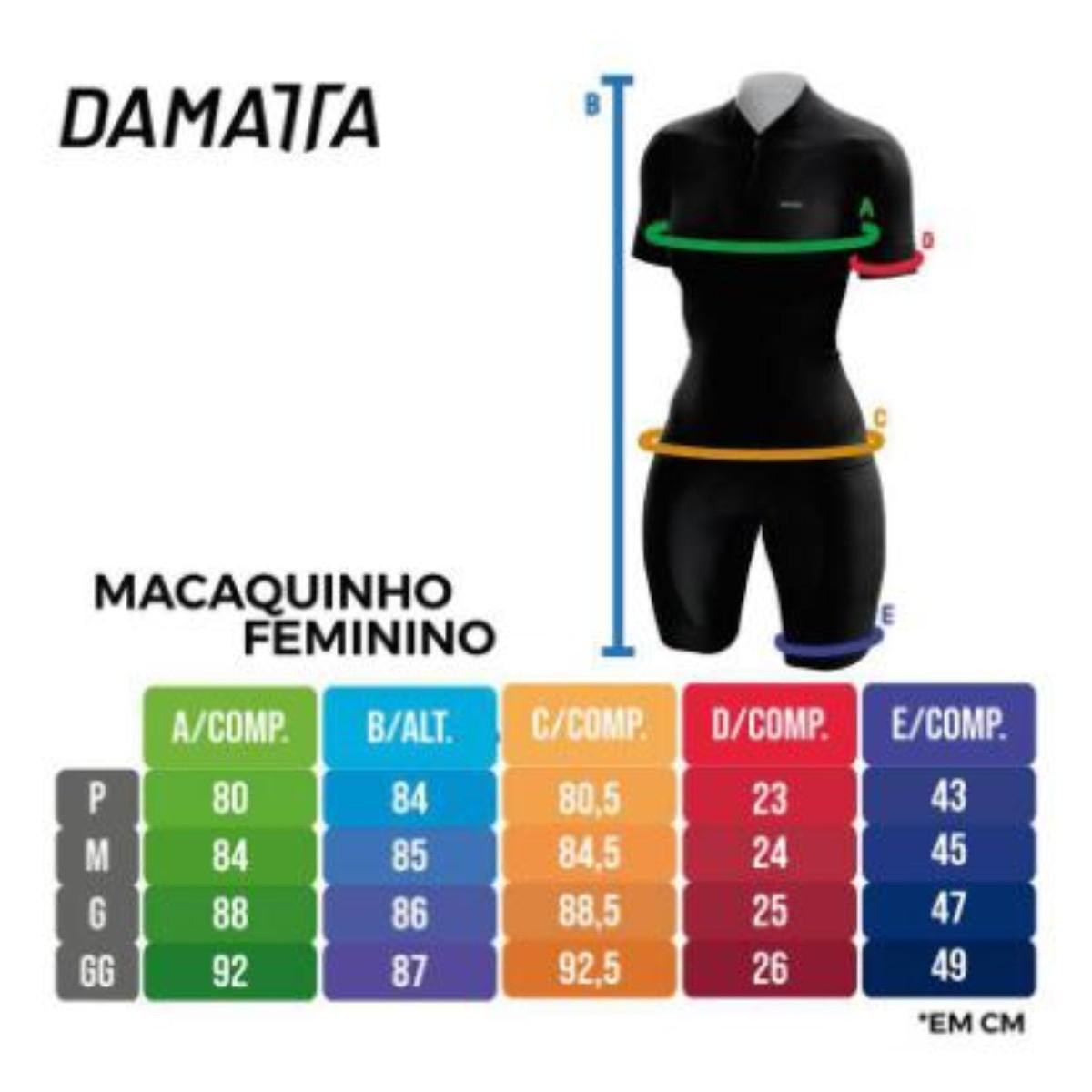 Macaquinho Damatta Ciclismo Feminino Skull Roxo