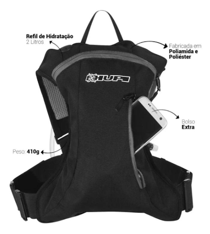 Mochila De Hidratação Hupi Huwe 2 Litros Para Ciclismo e corrida
