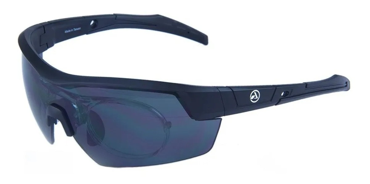 Óculos Ciclismo Absolute Race RX Clip Lente Fumê UV400 Preto