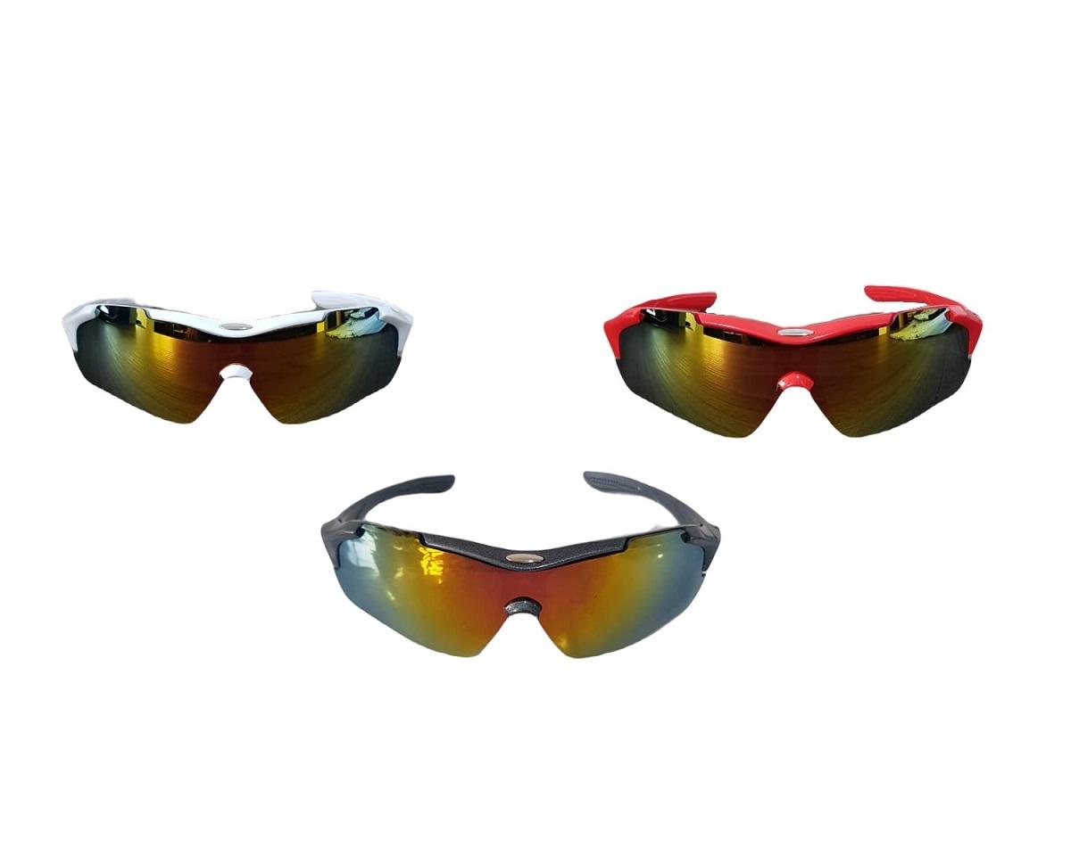 Óculos Ciclismo Com Lentes Espelhada Esportivo