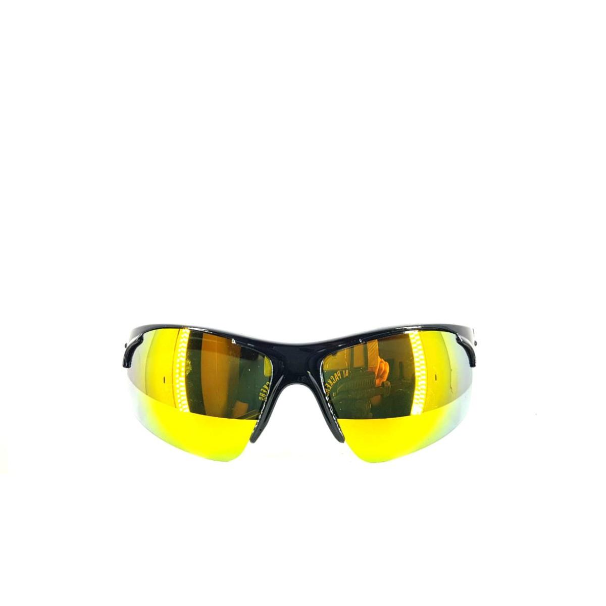 Oculos Esportivo Ciclismo Preto Com Lente Espelhada