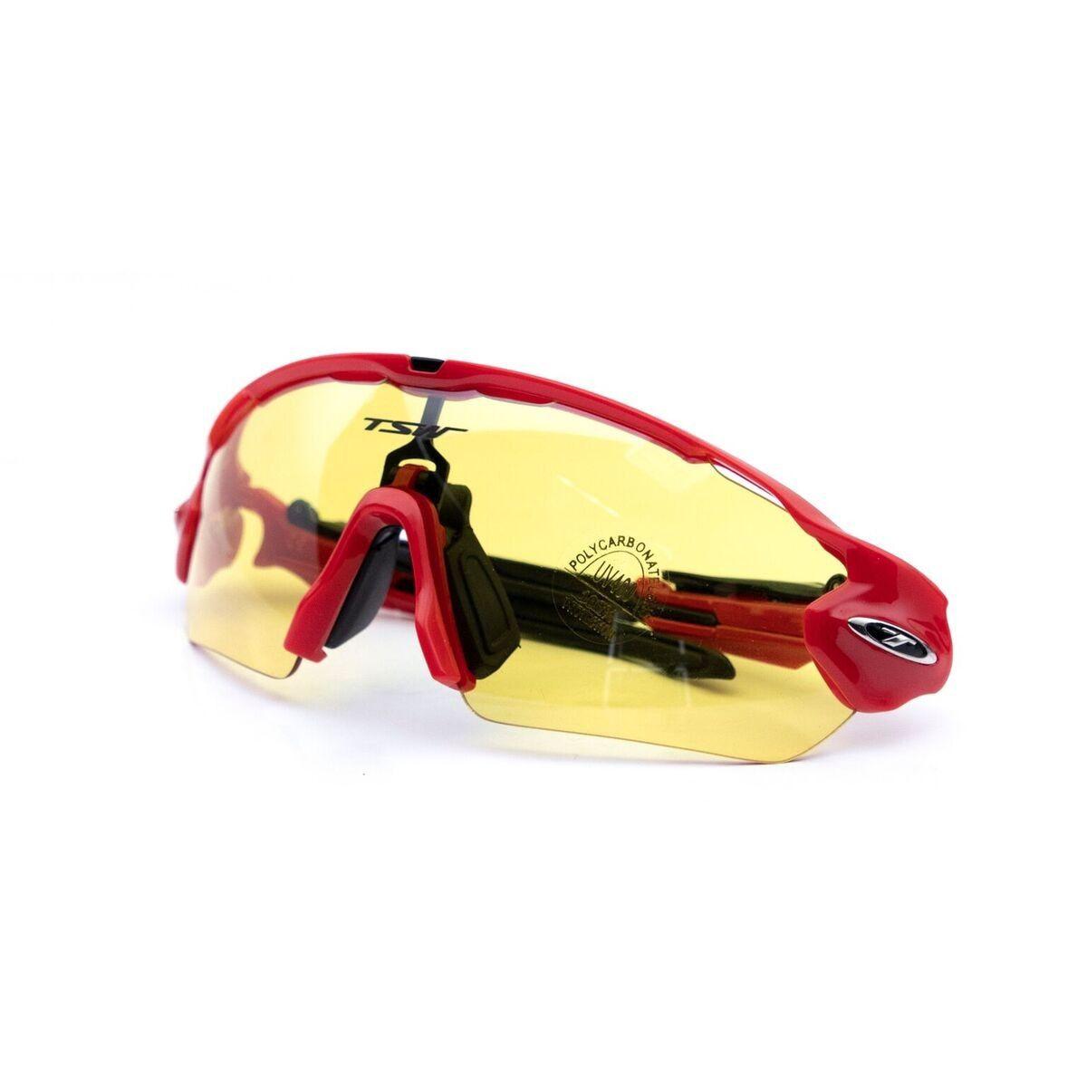 235ed9a5b Óculos para Ciclismo Bike Tsw Venon 3 lentes Vermelho