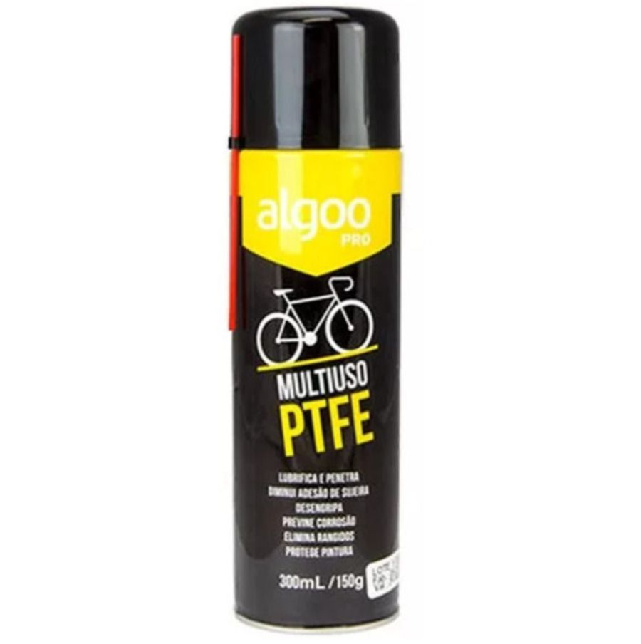 Óleo Lubrificante para Bicicleta Multiuso PTFE Algoo Spray 300ml