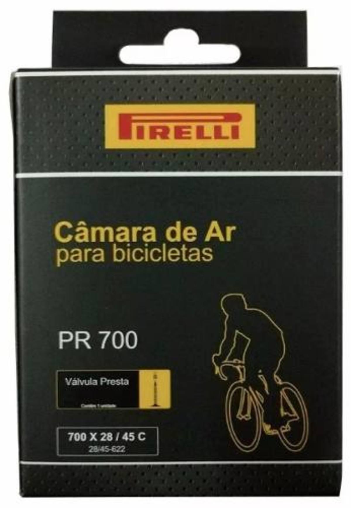 Pneu Pirelli Tornado Aramado 700x23 com Camara Pirelli 700 Kit