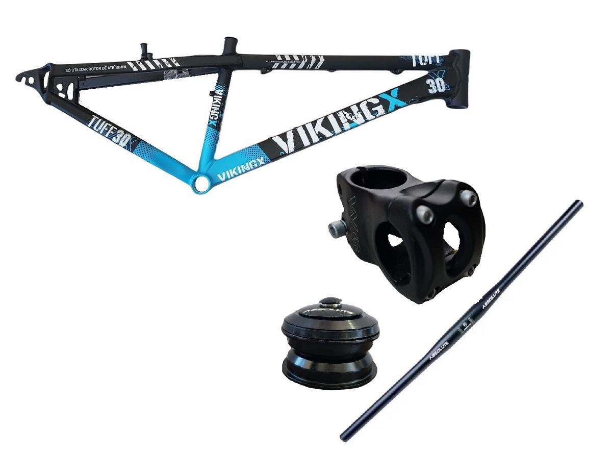 Quadro Bike Vikingx 26 Guidão Avanço Mesa Caixa Direção Downhill
