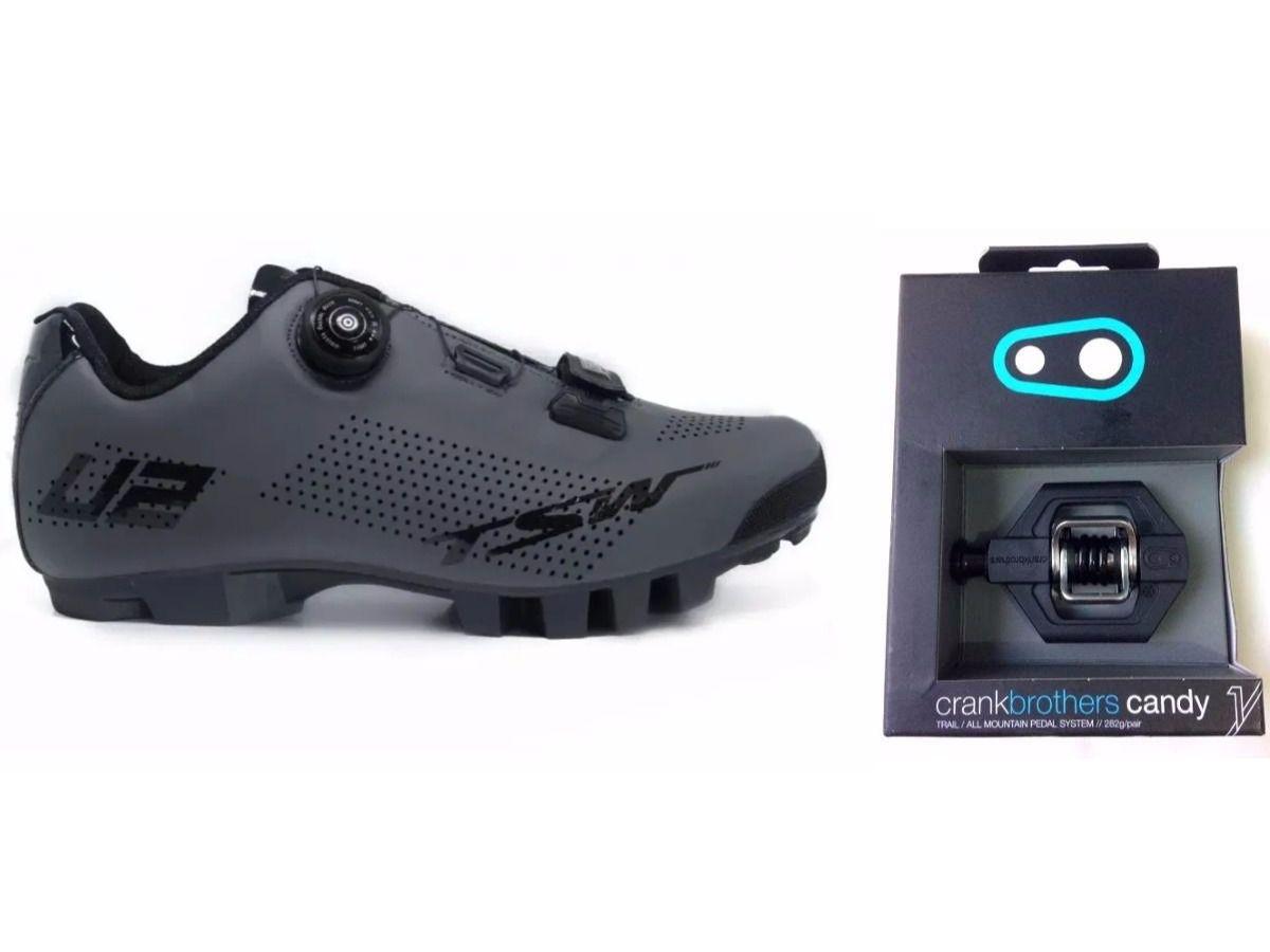 Sapatilha de Ciclismo MTB TSW Smart com Pedal Clip Crank Brothers Candy1