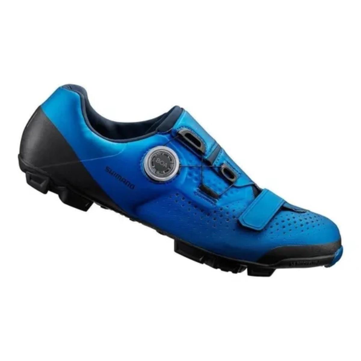 Sapatilha Shimano Xc501 Azul Com Crank Pedal Clip Candy1